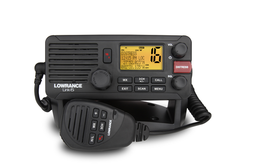 lowrance link 5 fixed marine vhf front view