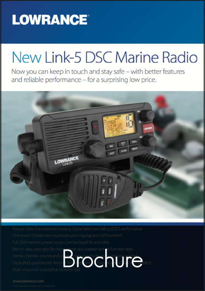 lowrance link 5 fixed vhf system brochure