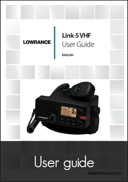 lowrance link 5 fixed vhf system user guide