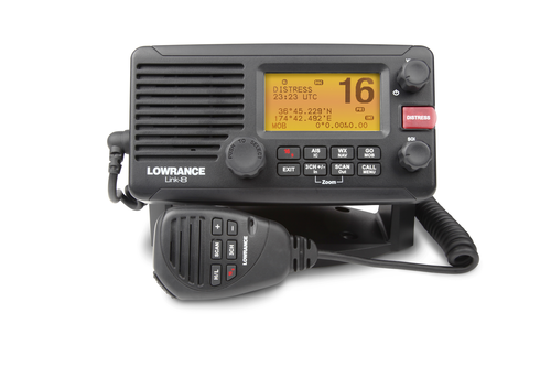 lowrance link 8 fixed marine vhf front view