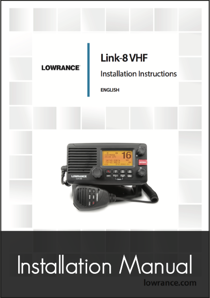 lowrance link 8 fixed vhf system installation manual