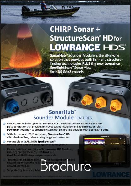 lowrance sonar hub brochure
