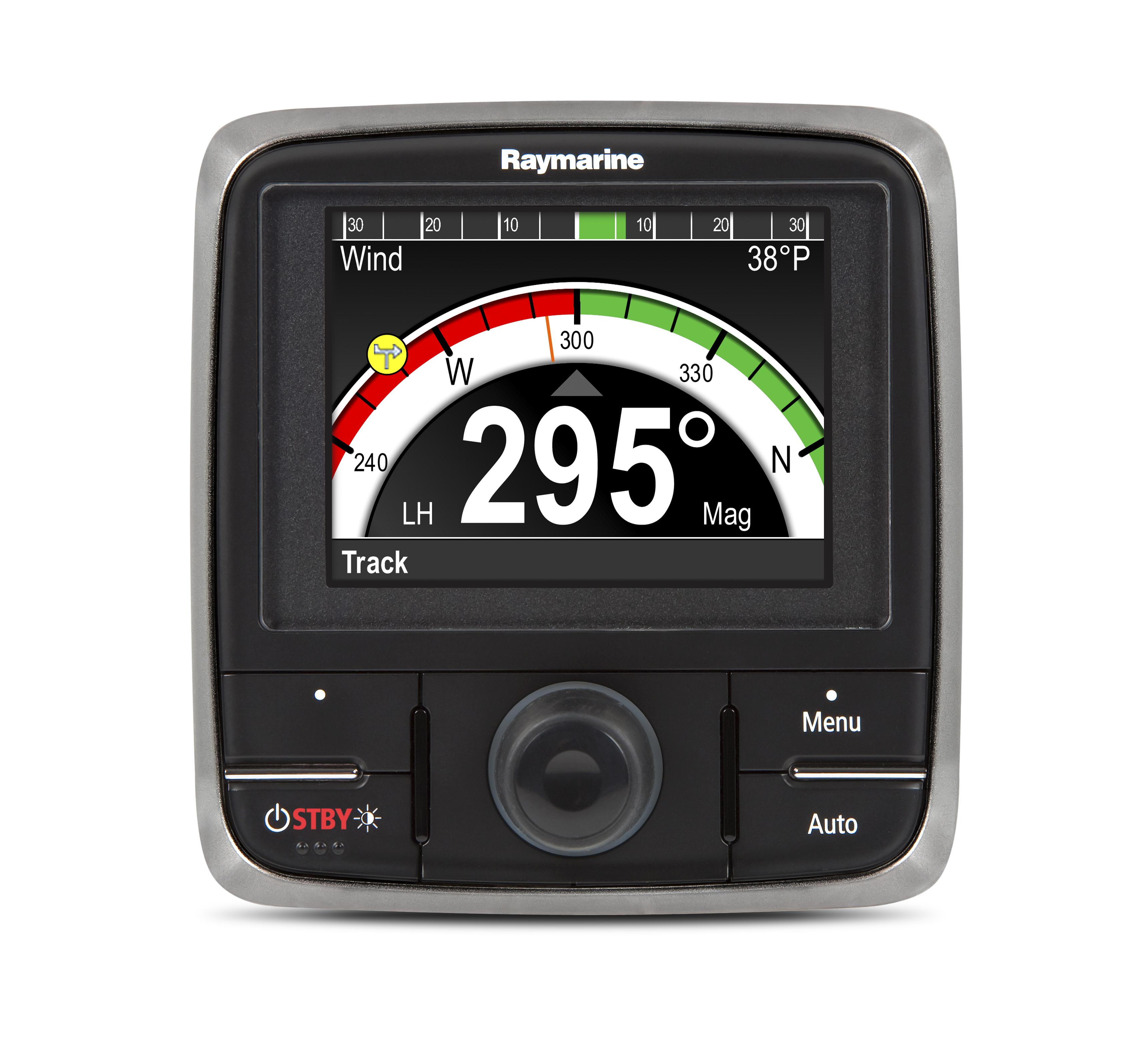 p70R front black display control head autopilot