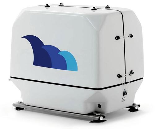 paguro 12000v marine generator angled view