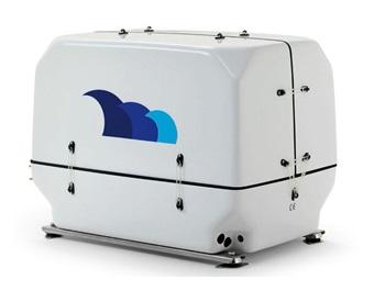 paguro 14000 marine generator angled view