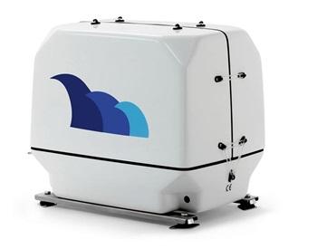 paguro 6000 marine generator angled view