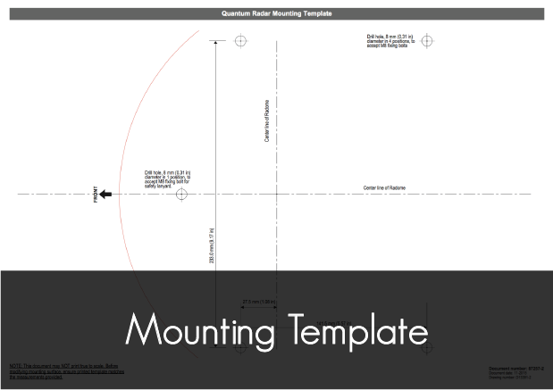 quantum wireless radome mounting template