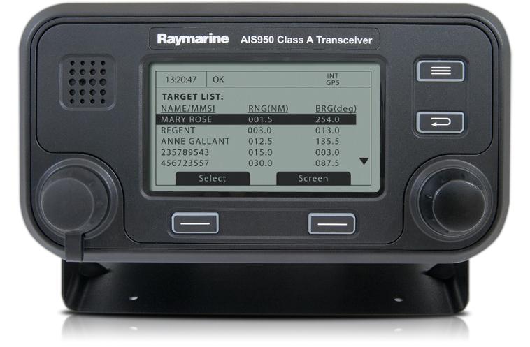 raymarine ais950 class a transceiver front