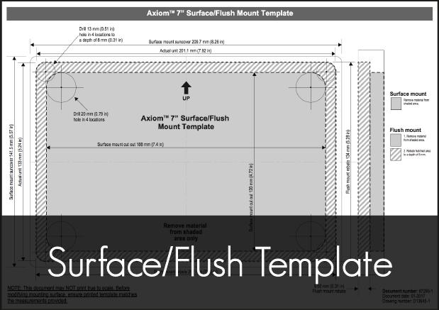 raymarine axiom 7 multifunction display surface flush mounting template
