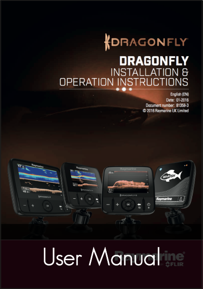 raymarine dragonfly 4 5 7 wi fish installation operation instructions