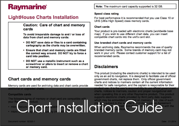 raymarine lighthouse chart installation guide