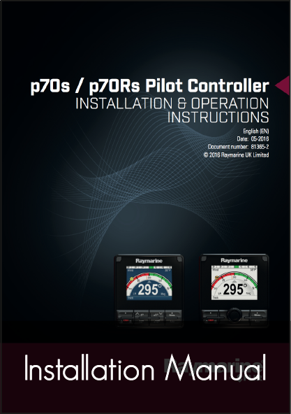 raymarine p70s p70rs autopilot control head installation instructions