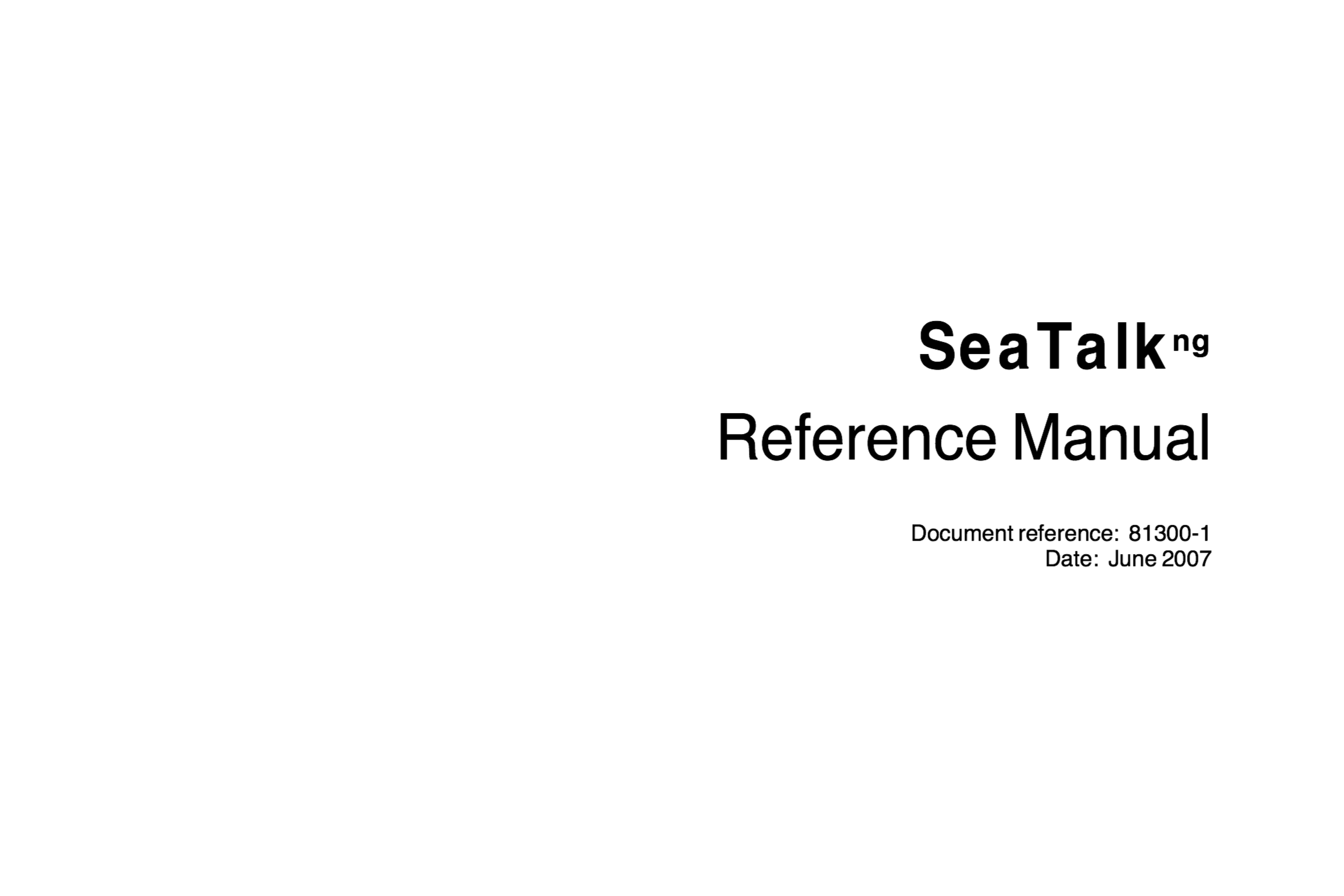 raymarine seatalk ng reference manual