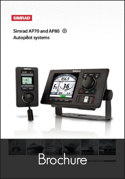 simrad ap70 ap80 autopilot control head brochure