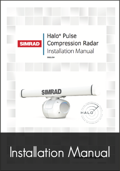 simrad halo pulse compression radar installation manual