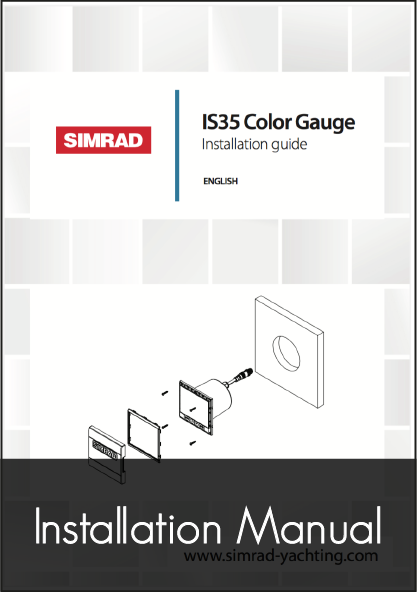 simrad is35 digital gauge instrument installation manual