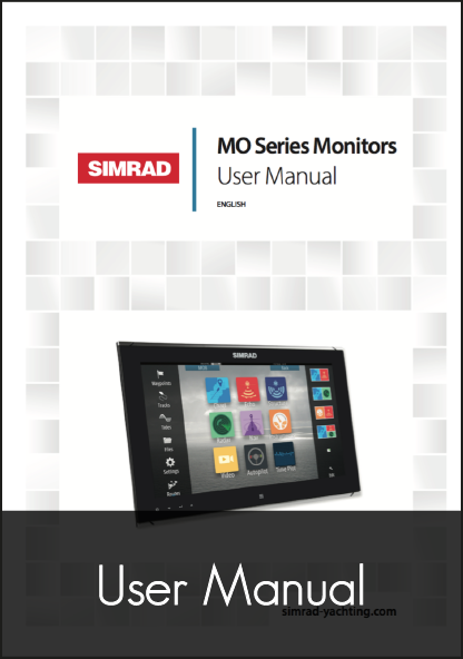 simrad mo series monitors user manual