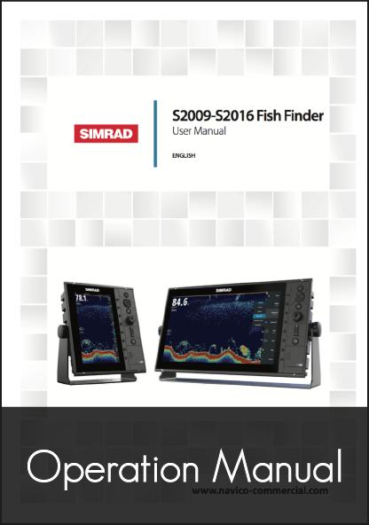 simrad s2009 s2016 fishfinder user manual
