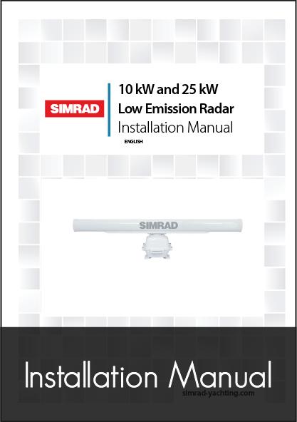 simrad txl 10s 25s radar installation manual