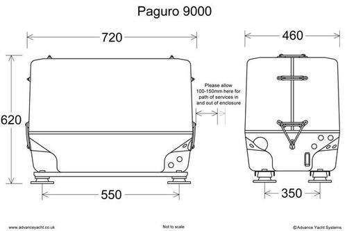 Paguro 9000 Marine Generator Dimensions