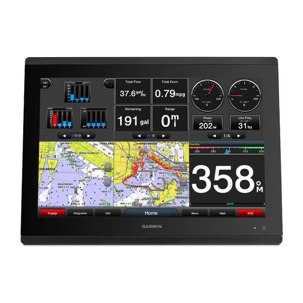 Garmin GPSMAP 8424 Multifunction Display Map Data Front View
