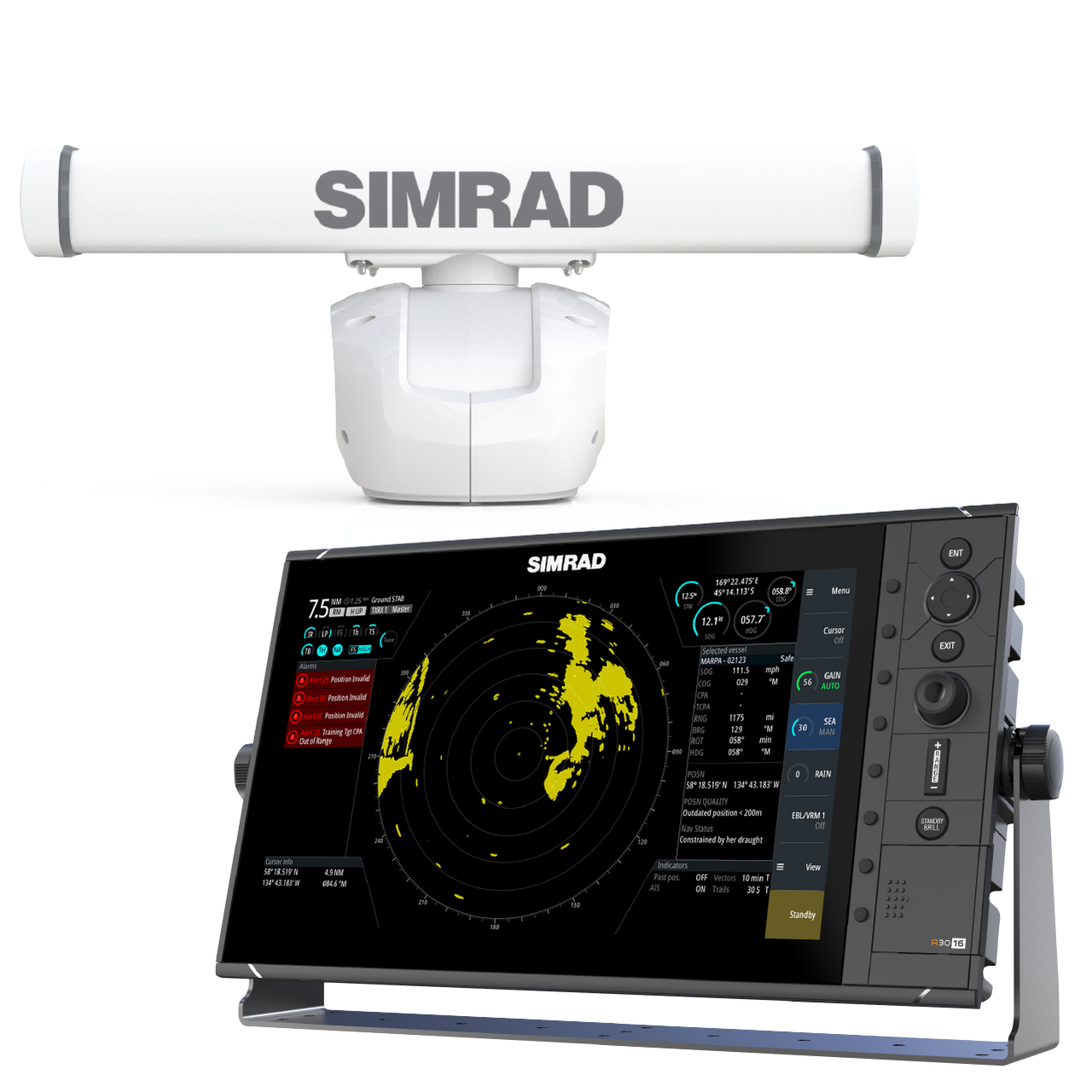 Simrad R3016 Radar Control Unit with HALO 3