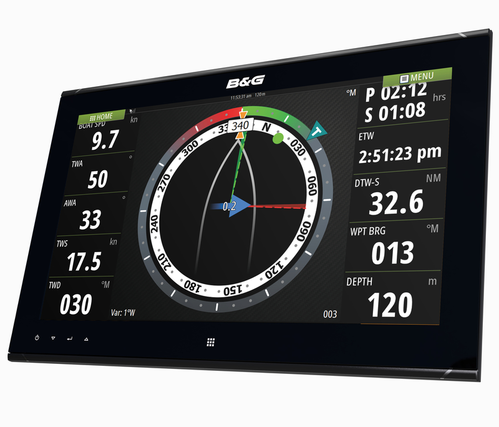 B&G ZM16-T Touch Monitor Left View