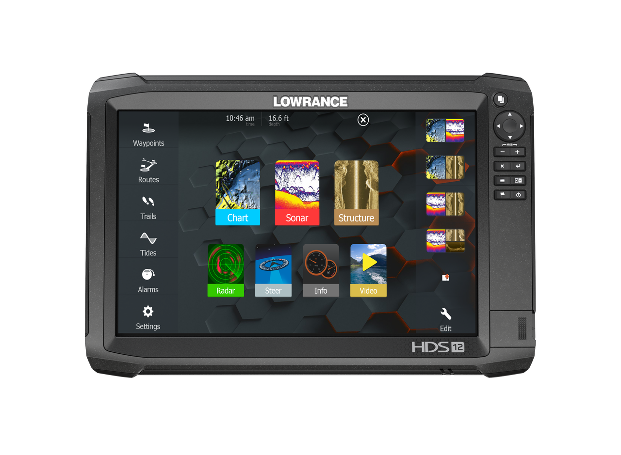 Lowrance HDS-12 Carbon GPS/Fishfinder Home View