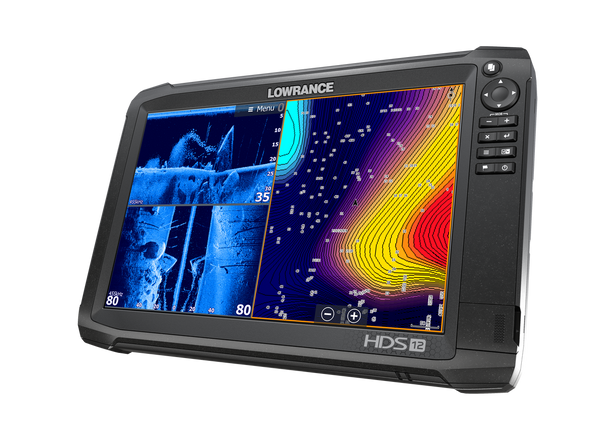 Lowrance HDS-12 Carbon GPS/Fishfinder Left View