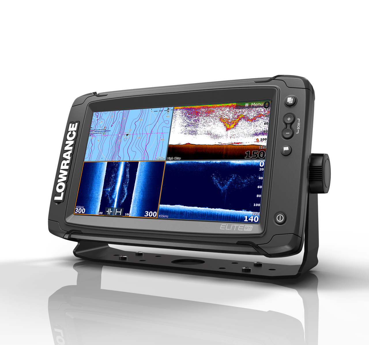 Lowrance Elite 9 Ti Multifunction Display Left View