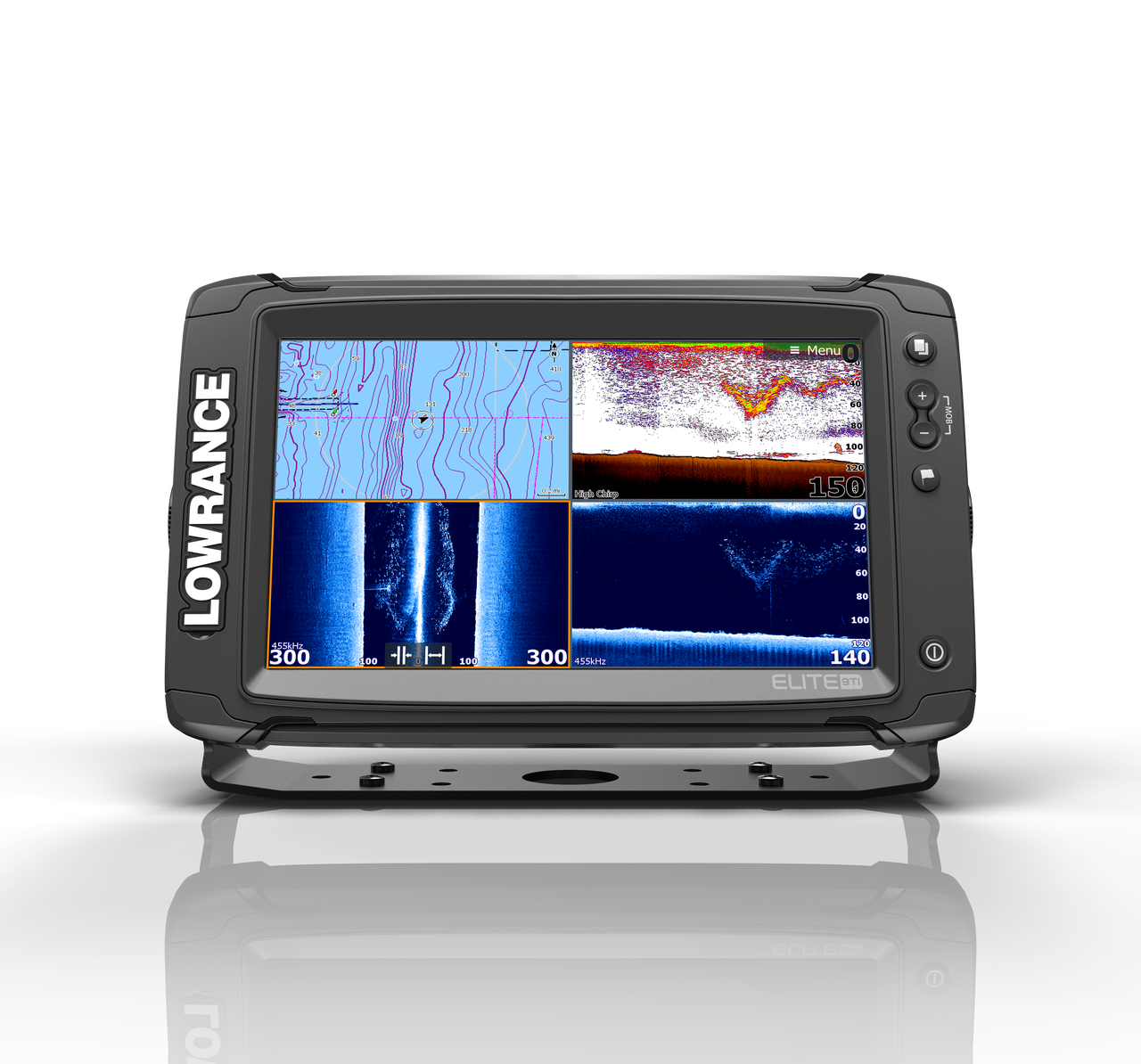 Lowrance Elite 9 Ti Multifunction Display Home View