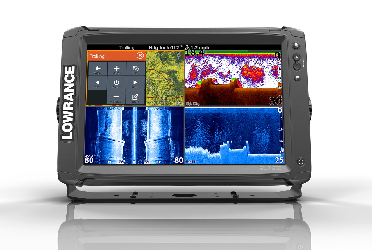 Lowrance Elite 12 Ti Multifunction Display Front View