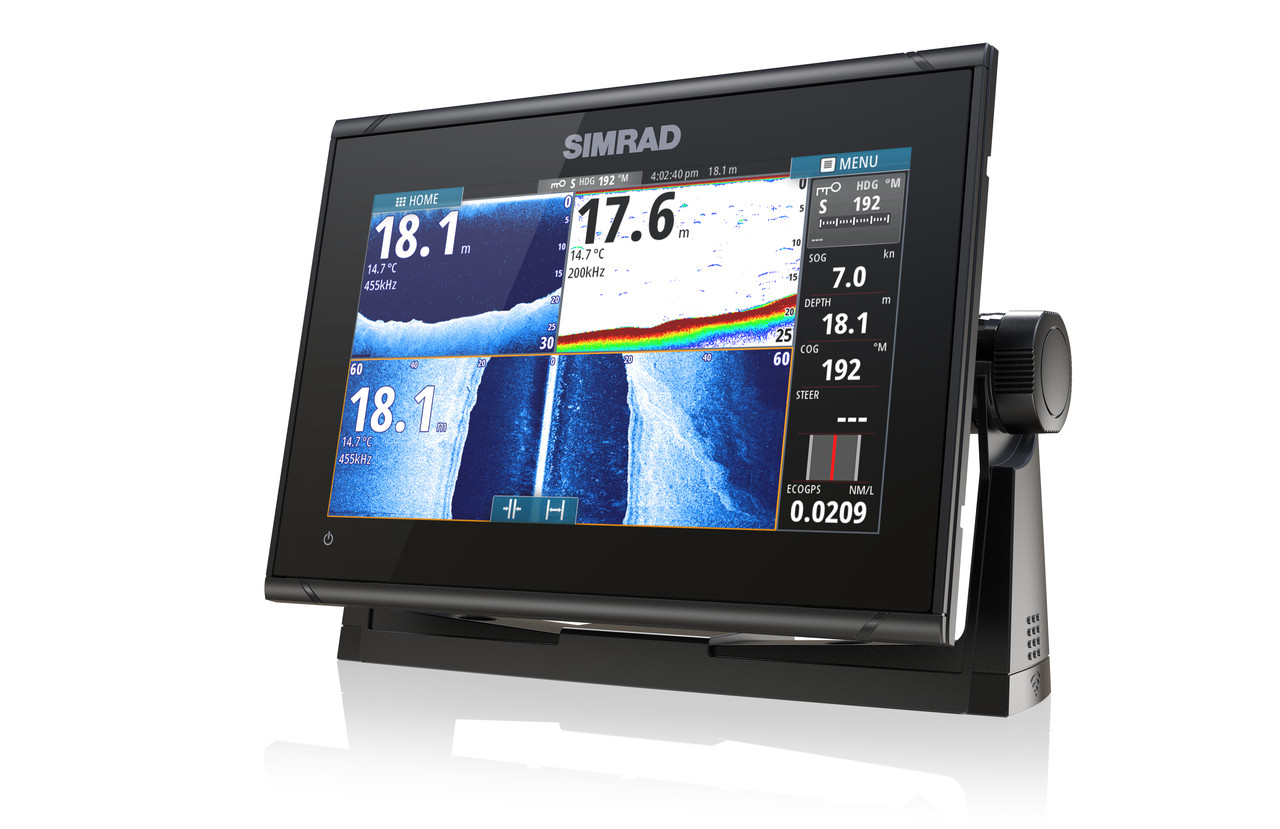 Simrad GO9 XSE Multifunction Display Left View