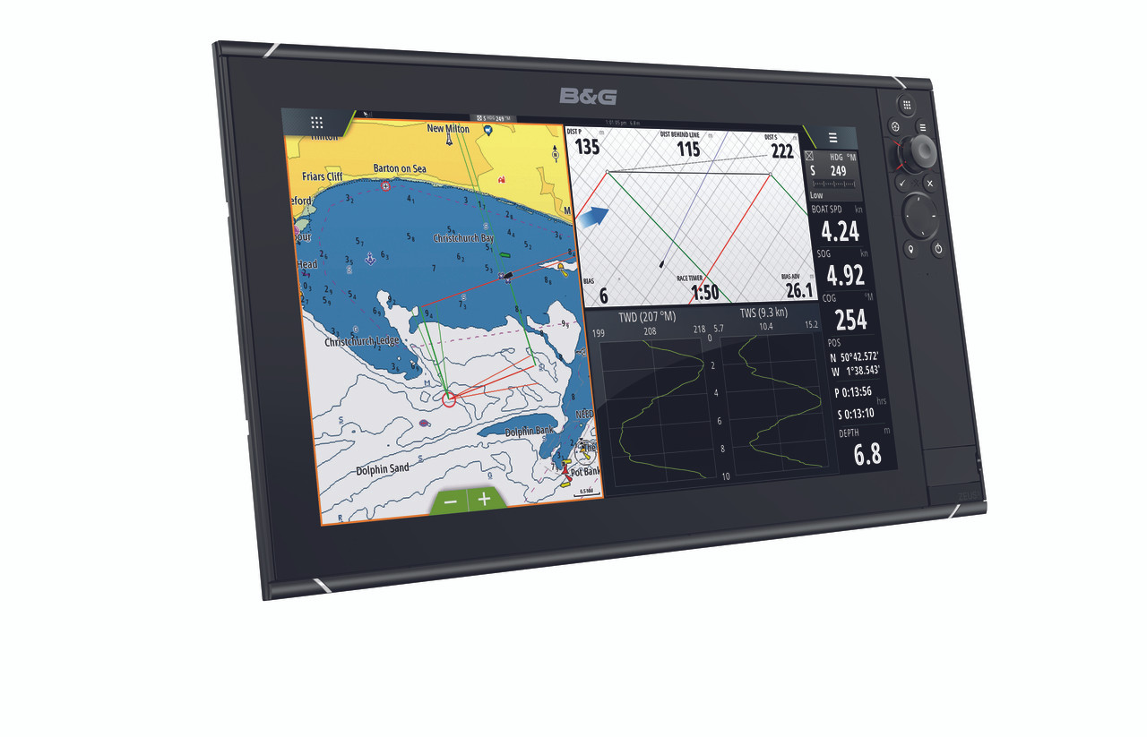 B&G Zeus³ 16 Multifunction Display Right View