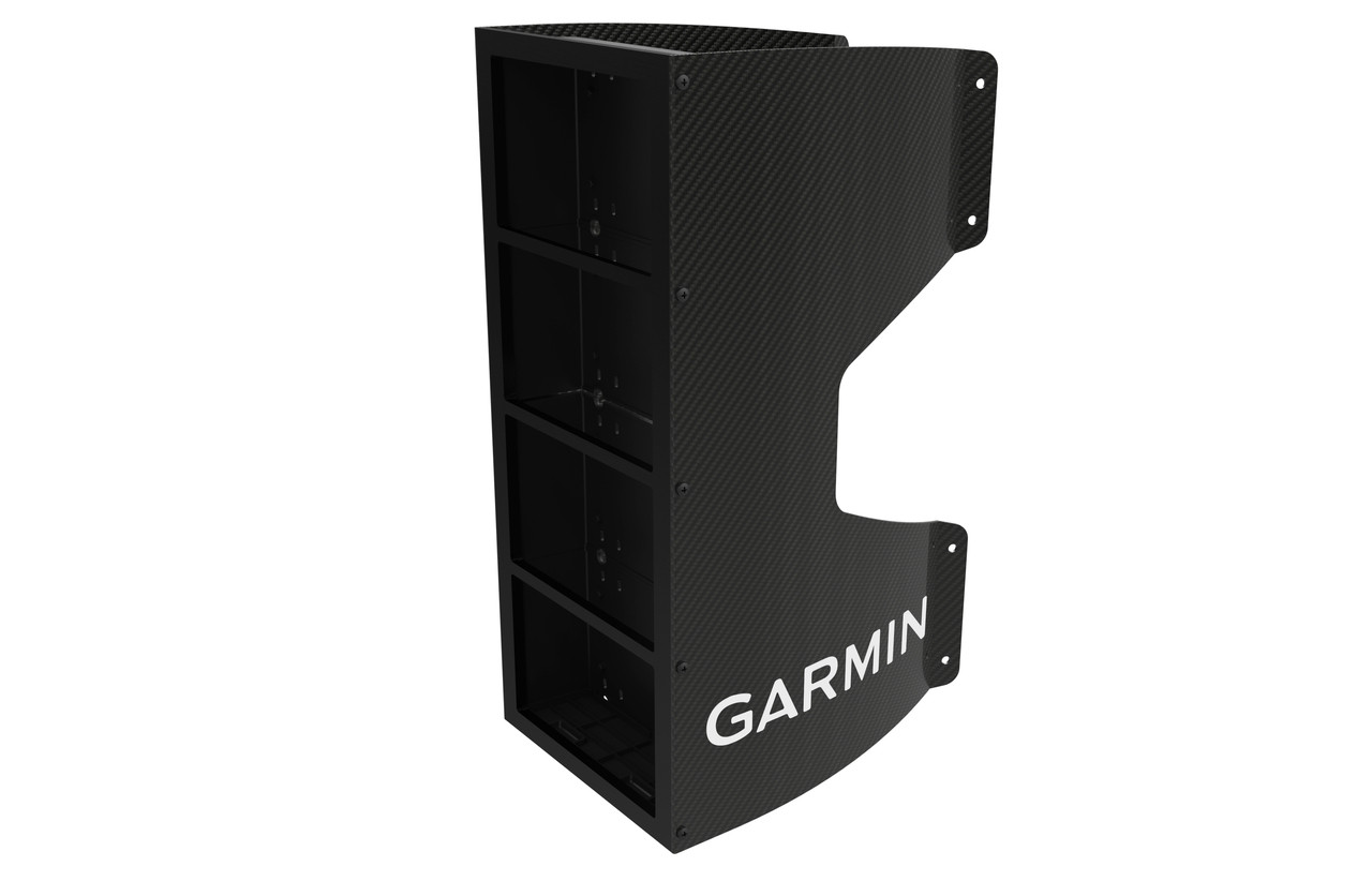 Garmin Carbon Fibre Mast Bracket (4 Units) Left View