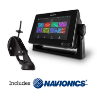 Raymarine Axiom 7 Multifunction Display, CPT-S Transducer & Navionics