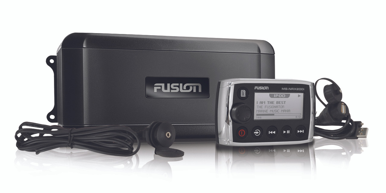 Fusion BB300R Marine Black Box with Wired Remote With Cables
