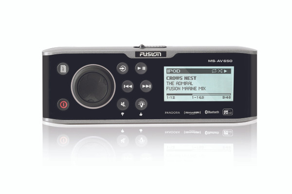 Fusion AV650 Marine Entertainment System Front View