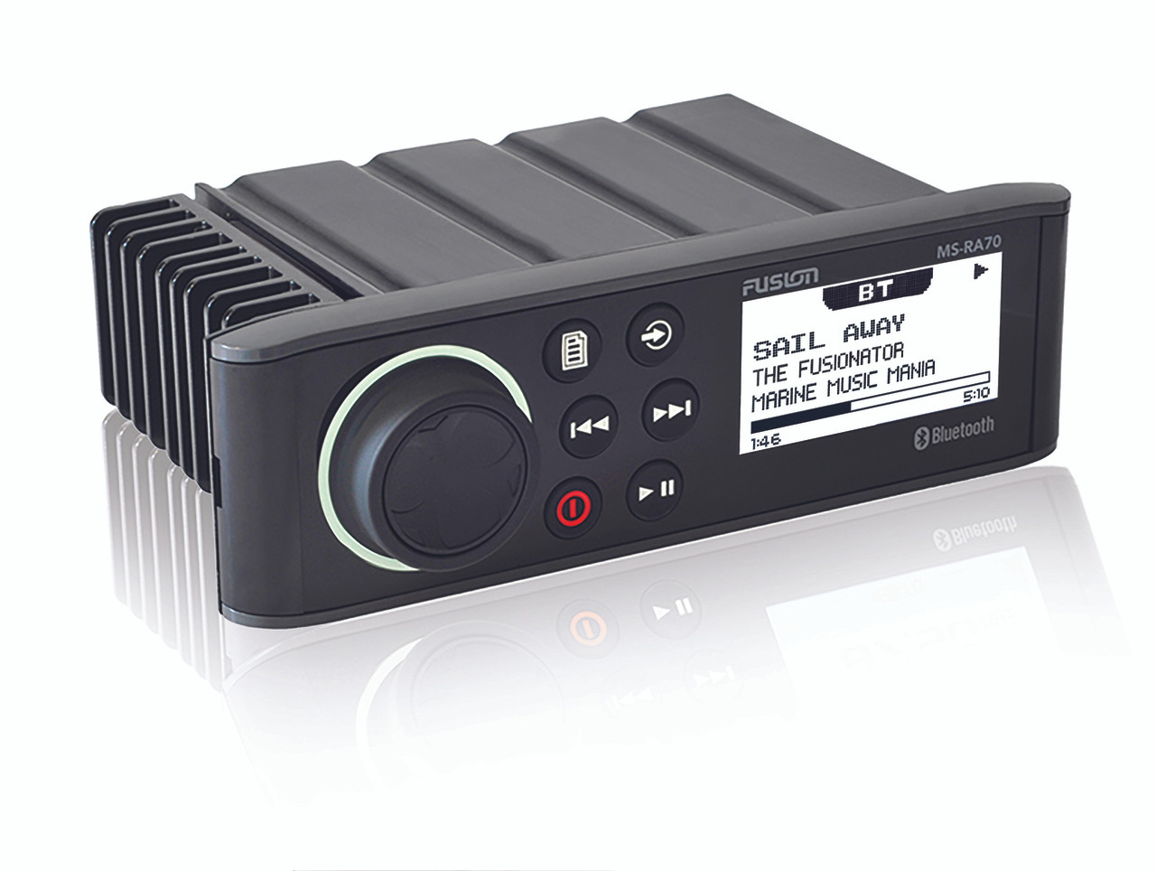 Fusion MS-RA70 Marine Entertainment System Side View