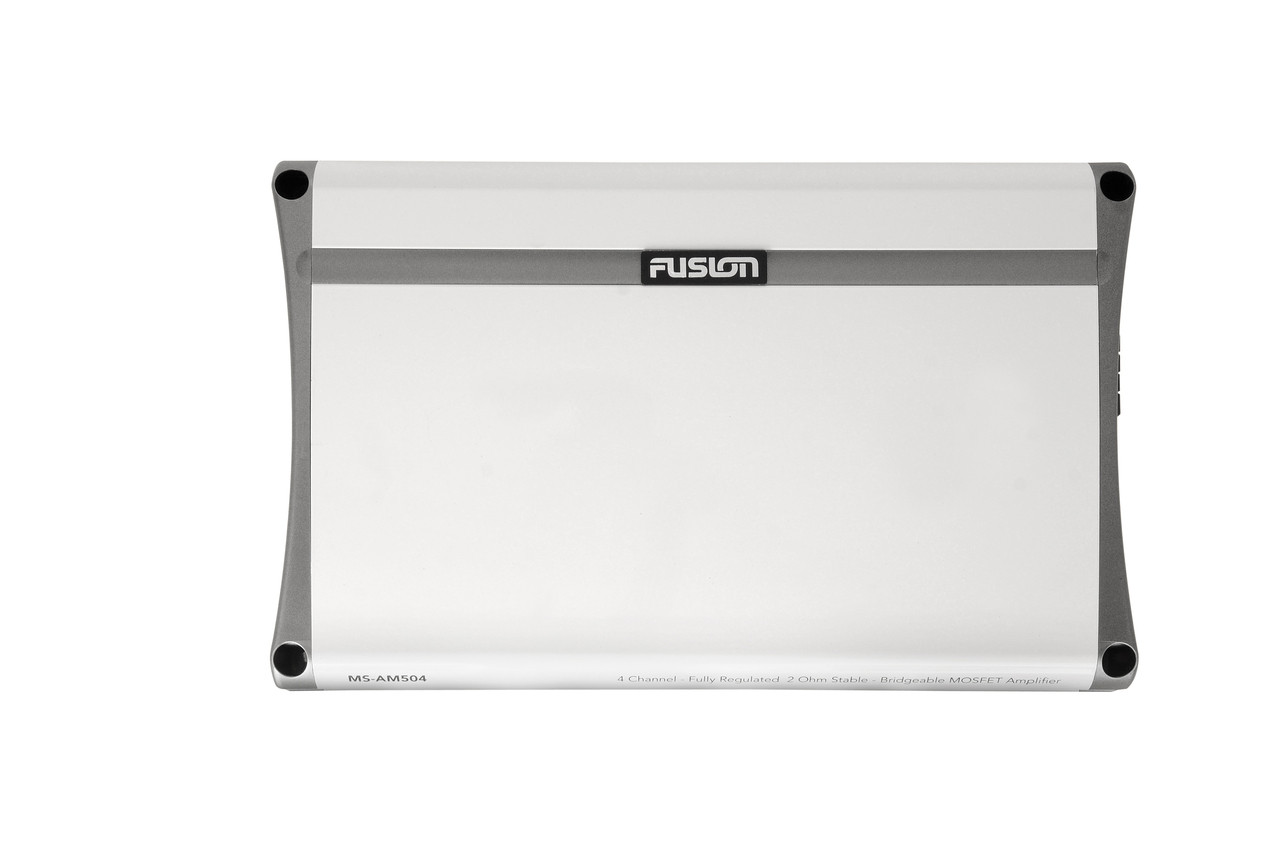 Fusion MS-AM504 4 Channel Marine Amplifier Top View