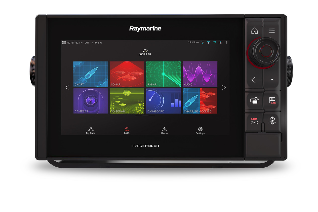 Raymarine Axiom Pro 9 RVX Multifunction Display Front with Trunnion