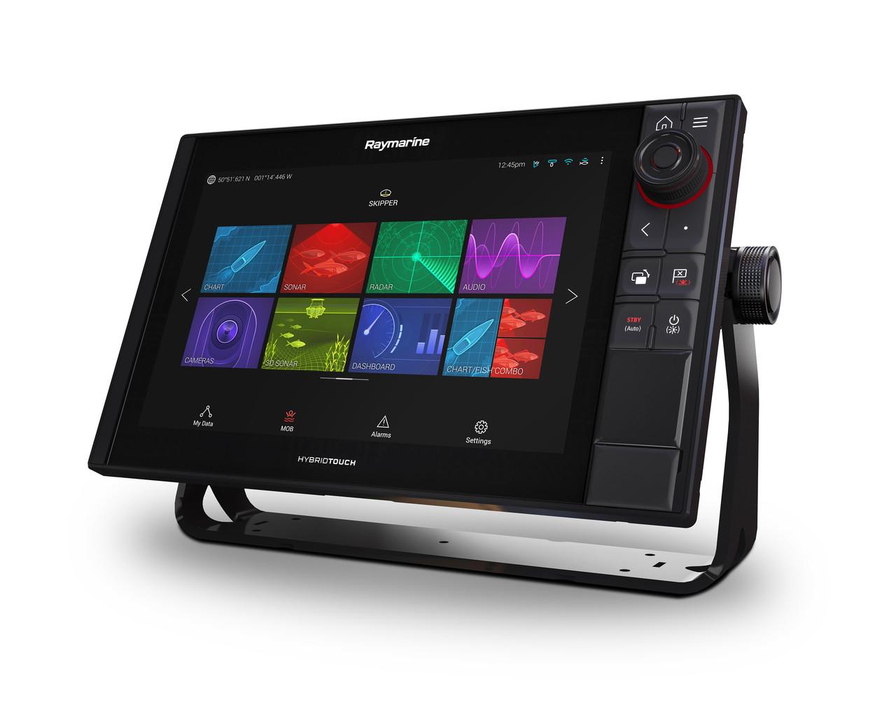 Raymarine Axiom Pro 12 RVX Multifunction Display Left View