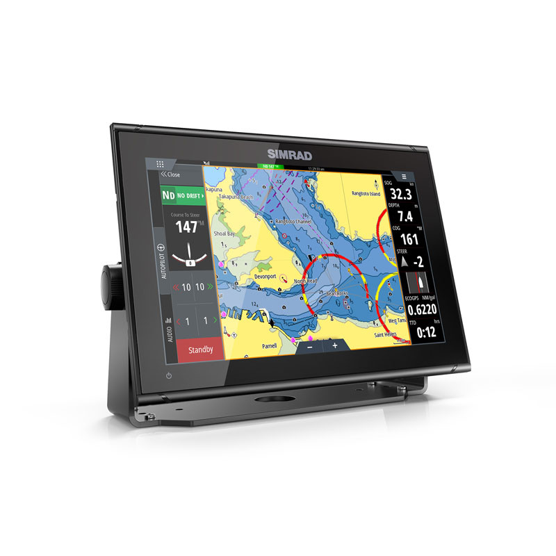 Simrad GO12 XSE Multifunction Display Charts