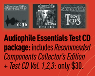 Audiophile Essentials Test CD Package