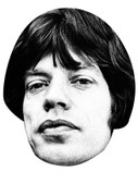Mick Jagger Celebrity Face Mask