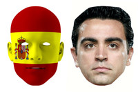 Spain World Cup Face Mask Pack Xavi