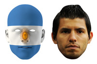 Argentina World Cup Face Mask Pack Aguero