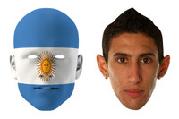 Argentina World Cup Face Mask Pack Di Maria