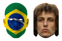 Brazil World Cup Face Mask Pack David Luiz