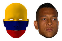 Colombia World Cup Face Mask Pack Fredy Guarin